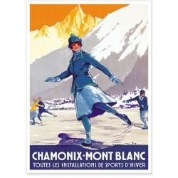 Affiche - Chamonix La patineuse