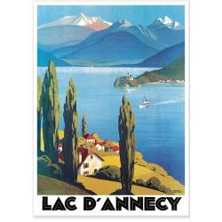 Affiche - Vue sur le Lac d'Annecy