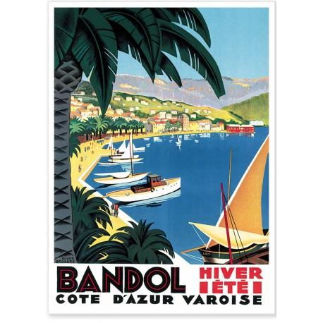 Affiche - Port de Bandol - PLM