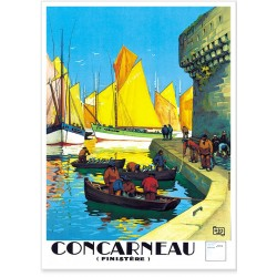 Affiche - Concarneau - Port de Bretagne - Compagnie PO