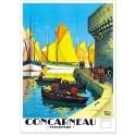 Affiche - Concarneau - Port de Bretagne