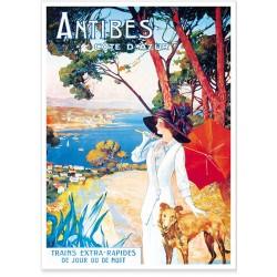 Affiche - Antibes La promeneuse