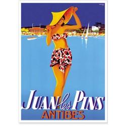Affiche - Juan les Pins La baigneuse
