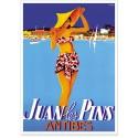 Affiche - Juan-les-Pins - La baigneuse