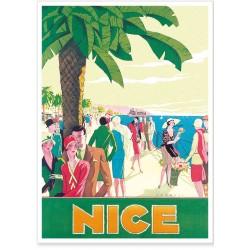 Affiche - Nice - Promenade animée