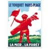 Affiche - Le Touquet - Le Caddy - Chemin de fer du Nord