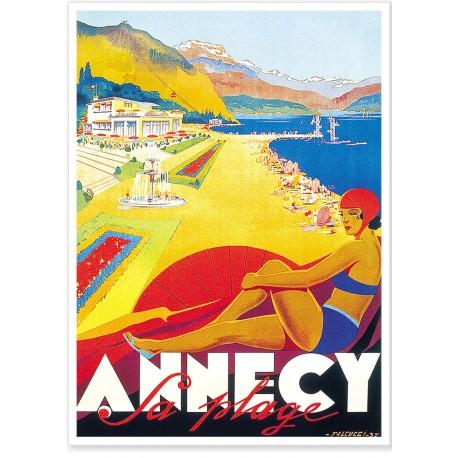 Affiche - Annecy - Plage - PLM