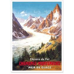 Affiche - Chamonix La Mer de Glace
