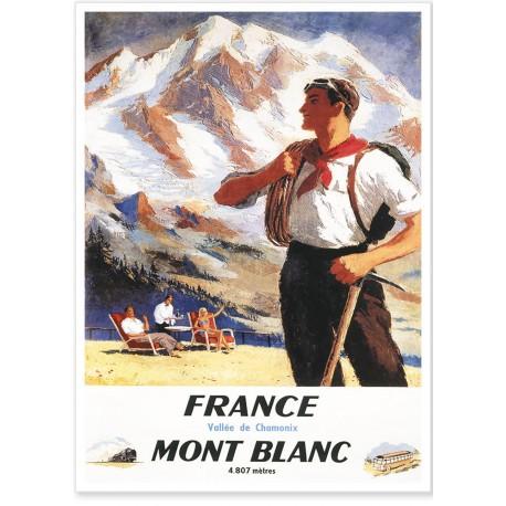 Affiche - Chamonix - L'alpiniste - SNCF