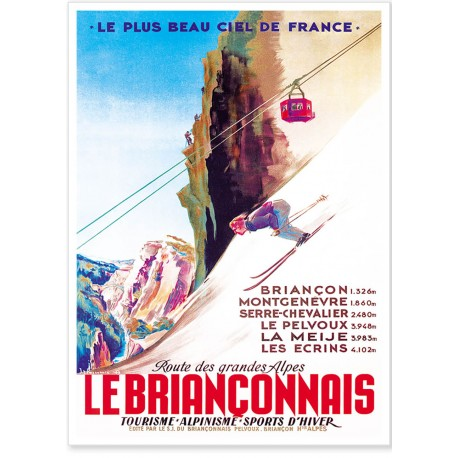 Affiche - Le Briançonnais - SNCF
