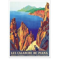 Affiche - Corse - Calanche de piana