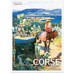 Affiche - Ajaccio - La paysanne