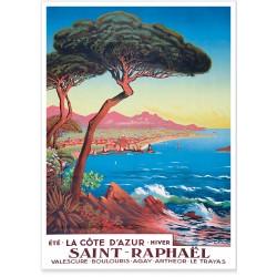 Affiche - Saint-Raphaël - Été hiver