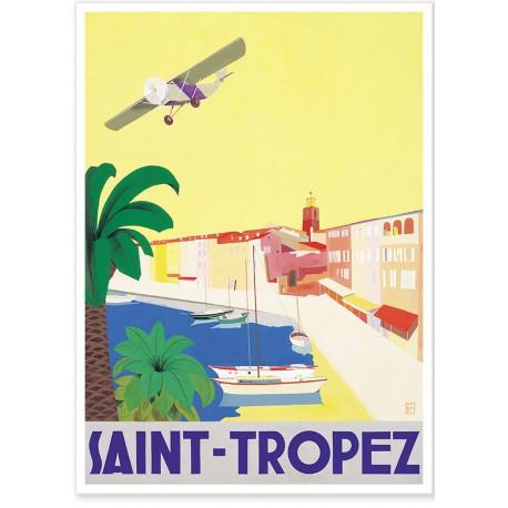 Affiche - Saint-Tropez - L'avion - Ville de Saint-Tropez
