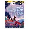 Affiche - La route des Alpes - PLM