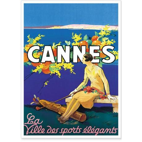 Affiche - Cannes ville des sports élégants - PLM