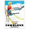 Affiche - Combloux - La skieuse blonde