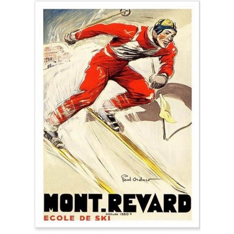 Affiche - Mont-Revard - L'école de ski (fin de série) - PLM