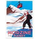 Affiche - Morzine - En haut des pistes