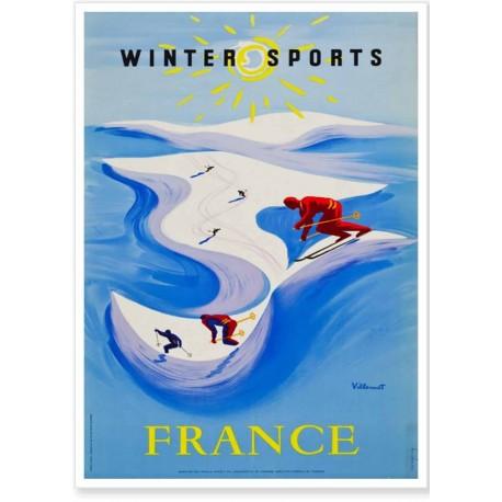 Affiche - Sports d'hiver - Ministère du Tourisme