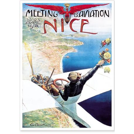 Affiche - Nice - L'aviateur - Meeting d'aviation