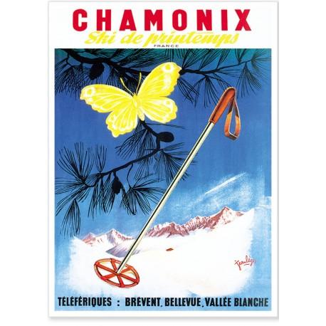 Affiche - Chamoinx - Ski de printemps - Ville de Chamonix
