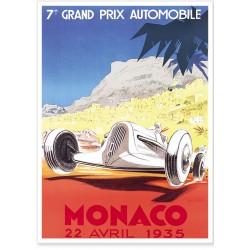 Affiche - Grand Prix de Monaco de 1935