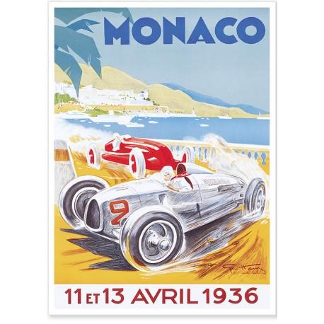 Affiche - Grand Prix de Monaco de 1936 - Ville de Monaco