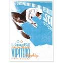 Affiche - Italie - Championnat de ski