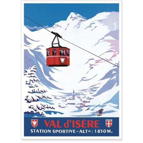 Affiche - Téléphérique de Val d'Isère