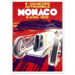 Affiche - Grand Prix de Monaco de 1930 - Ville de Monaco