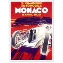 Affiche - Grand Prix de Monaco de 1930