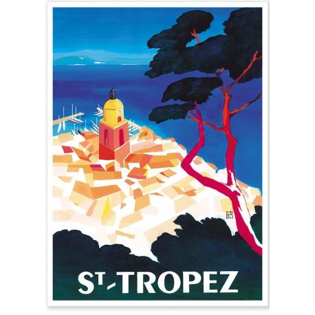 Affiche - Vue aérienne de Saint-Tropez - Ville de Saint-Tropez