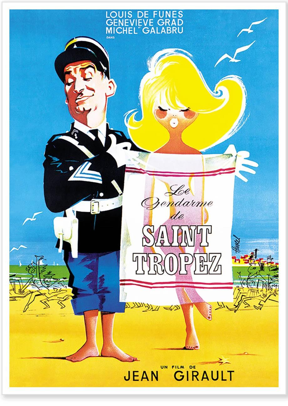 Affiche - Le Gendarme de Saint Tropez - Le Gendarme de Saint-Tropez |  Boutique Clouet