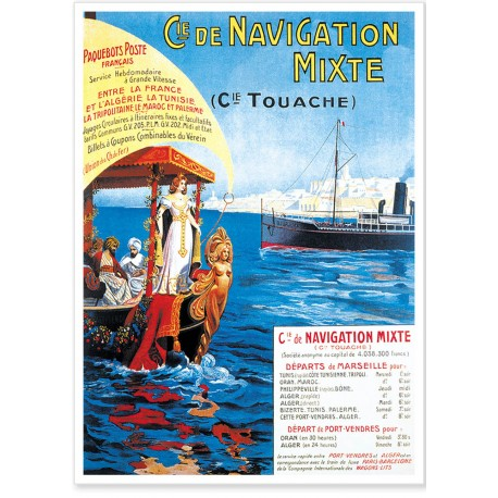 Affiche - Mer - Compagnie de navigation mixte