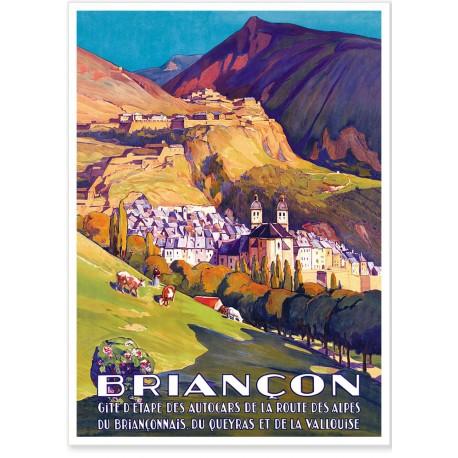 Affiche - Briançon Route des Alpes