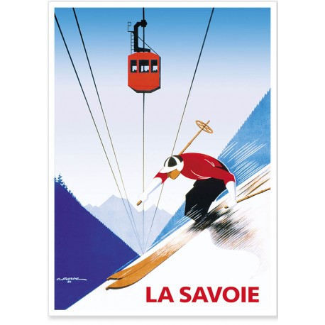 Affiche - Savoie - Téléphérique