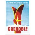 Affiche - Grenoble - Skis