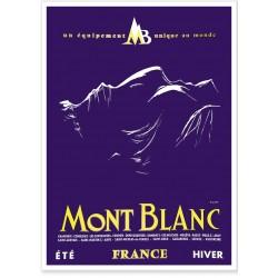 Affiche - Contour du Mont Blanc