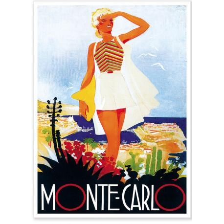 Affiche - Monte-Carlo - La Vacancière