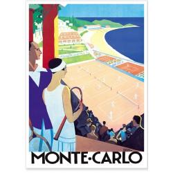 Affiche - Tennis Monte Carlo