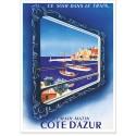 Affiche - Côte d'Azur - Vue du Train Bleu