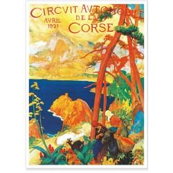 Affiche - Corse - Circuit Automobile