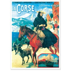 Affiche - Corse - Chèvres de Bonifacio