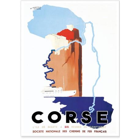 Affiche - Corse - A six heures du Continent