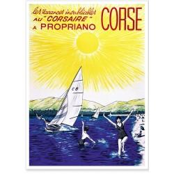 Affiche - Corse - Le Corsaire à Propriano