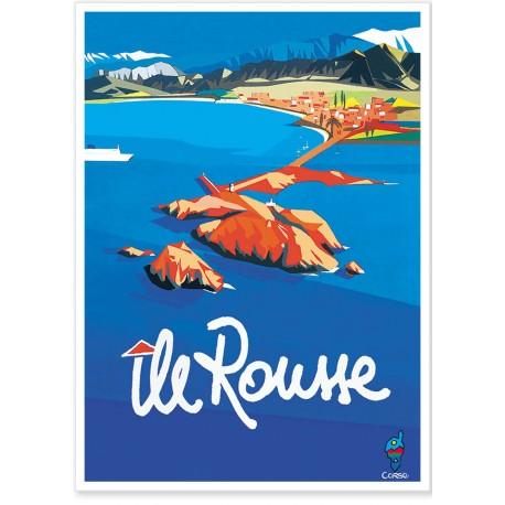 Affiche - Corse - Île Rousse