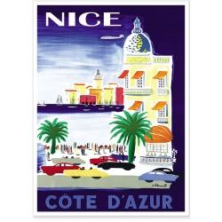 Affiche - Nice - Ville Multicolore