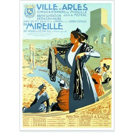 Affiche - Arles - Le Jubilé de Frédéric Mistral - Arènes d'Arles
