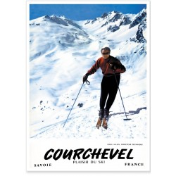 Affiche - Émile Allais Courchevel